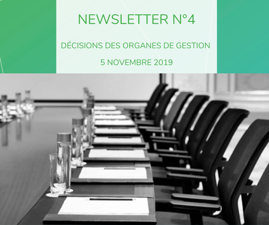 Newsletter 4 décisions de gestion